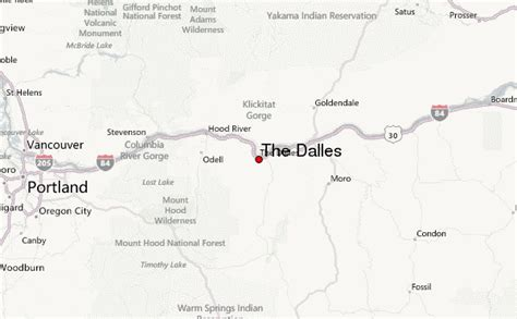 the dalles oregon map the dalles location guide