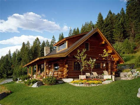 Log Cabin House by Montana Log Home Designs Pioneer Log Homes Plans For Log