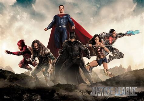 justice league superman shows up on new justice league poster birth