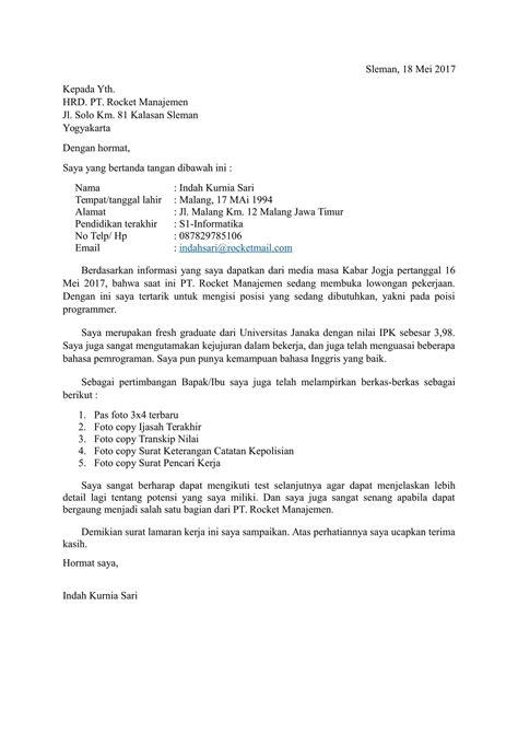 format surat lamaran kerja formal download contoh surat lamaran kerja terbaru