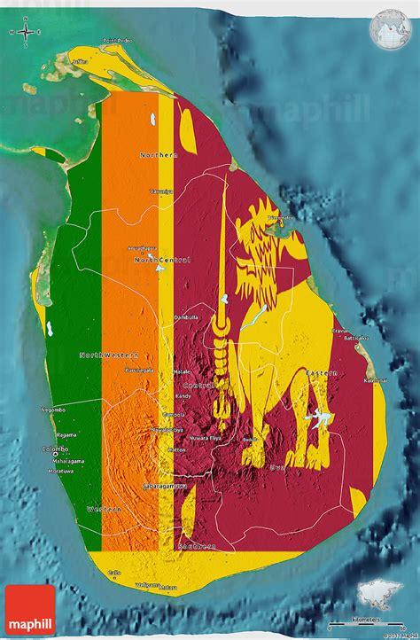 sri lanka satellite map flag 3d map of sri lanka satellite outside