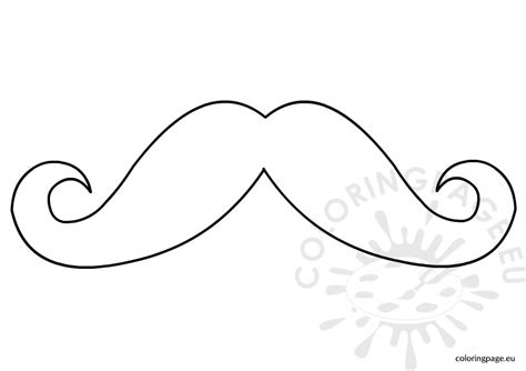 mustache face coloring page coloring pages