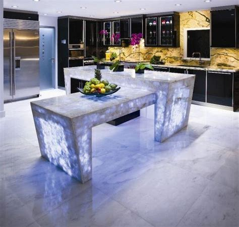 modern countertops modern glass kitchen countertop ideas latest trends in decorating kitchens