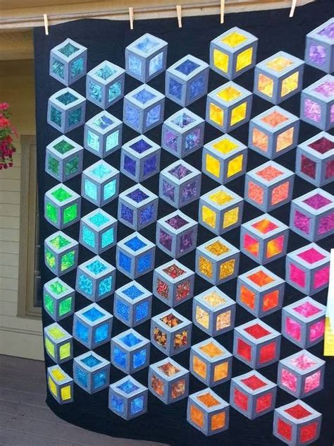 Tumbling Blocks Patchwork - tumbling blocks patchwork polymer clay patchwork 2016