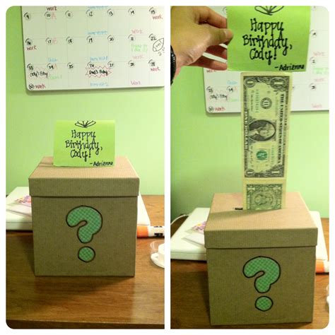gifts to get my boyfriend for a gift for my boyfriend s a box with dollar bills