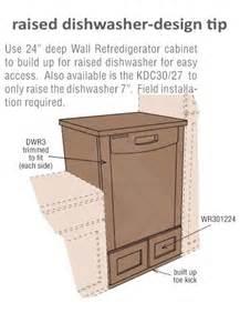 Dishwasher Cabinets Raised Dishwasher With Cabinet Beneath For Inspiration