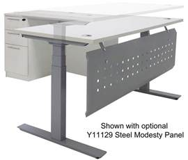 L Shaped Adjustable Height Desk Electric Lift Height Adjustable L Shaped Desks