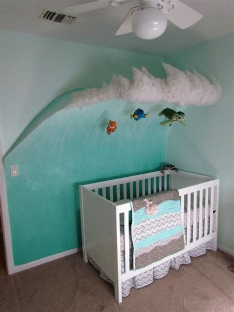 Surfer Crib Bedding 3 D Wave For Baby S Nursery Some Thin Plywood And Spackle It Top Is Cotton Batting And