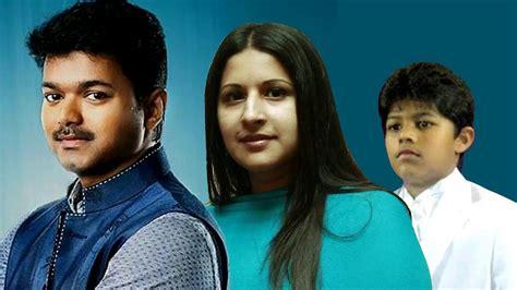 actor vijay sangeetha photos actor vijay family photos with wife sangeetha son sanjay