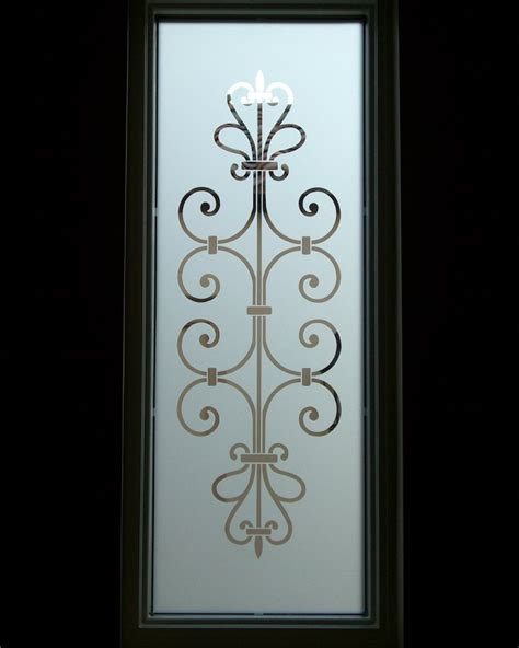 Door Glass Design Clear Ironwork Glass Window Etched Glass Decor