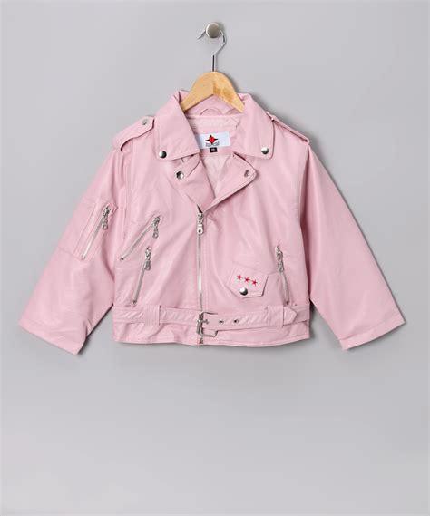 pink toddler jacket pink biker jacket toddler zulily