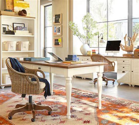rattan swivel desk chair wingate rattan swivel desk chair pottery barn