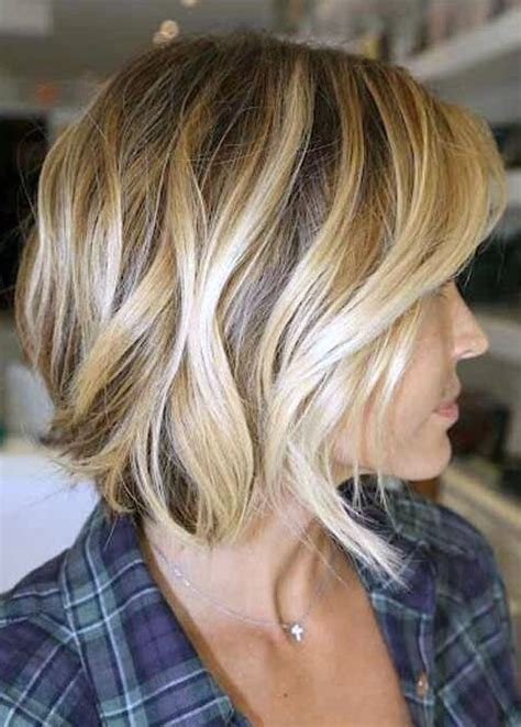 sideview of long wavy angled bob side view of the angled bob hairstyle wave bob haircut