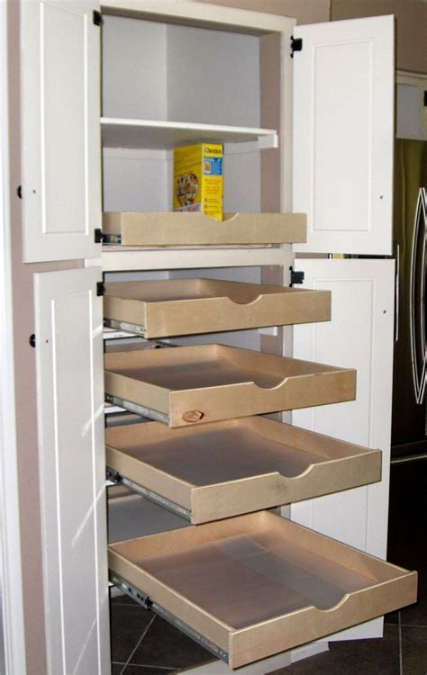 Pantry With Drawers by Kitchen Pantry Cabinet With Drawers Slide Out Kitchen