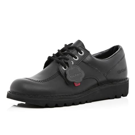 river island black kickers low shoes in black for lyst
