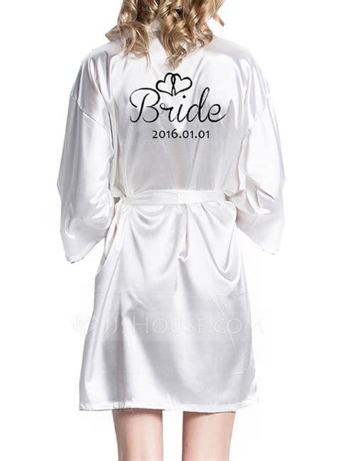 braut robe individualisiert braut brautjungfern satin mit kurz