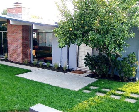 modern home landscaping mid century modern home with landscaping ideas house and