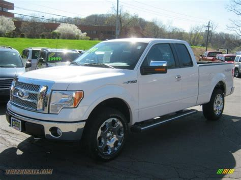 Ford F150 2010 by 2010 Ford F150 Lariat Supercab 4x4 In White Platinum