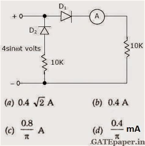 diode circuits gate questions gate 2018 previous solutions lectures for free previous gate questions on diode