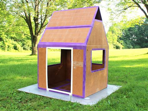 how do you make a house how to make a weatherproof cardboard box fort diy