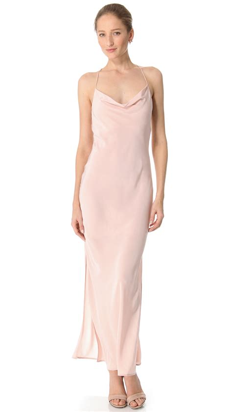 Shopbop Me Back by Zimmermann Shoestring Maxi Dress In Pink Lyst