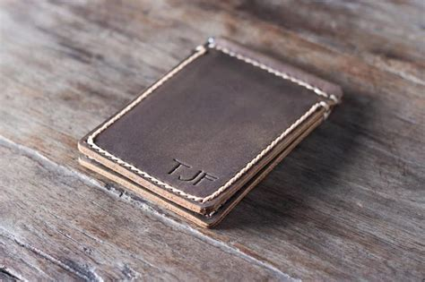 Handmade Money Clip - leather money clip wallet personalized joojoobs