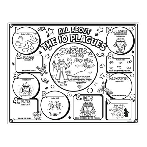 10 plagues coloring page az coloring pages
