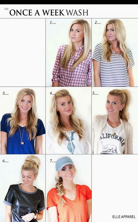 easy hairstyles for everyday of the week hairstyles for the week