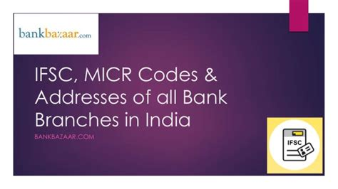 Search Branch Address By Ifsc Code Find Ifsc Codes Micr Codes Address Phone Numbers Of All Bank Branc