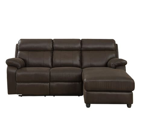 furniture brown leather high back sectional recliner