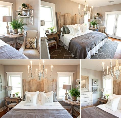 rustic chic bedroom decor gray and brown bedroom with rustic headboard antique