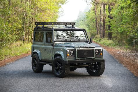 green land rover defender project 13 land rover defender 90