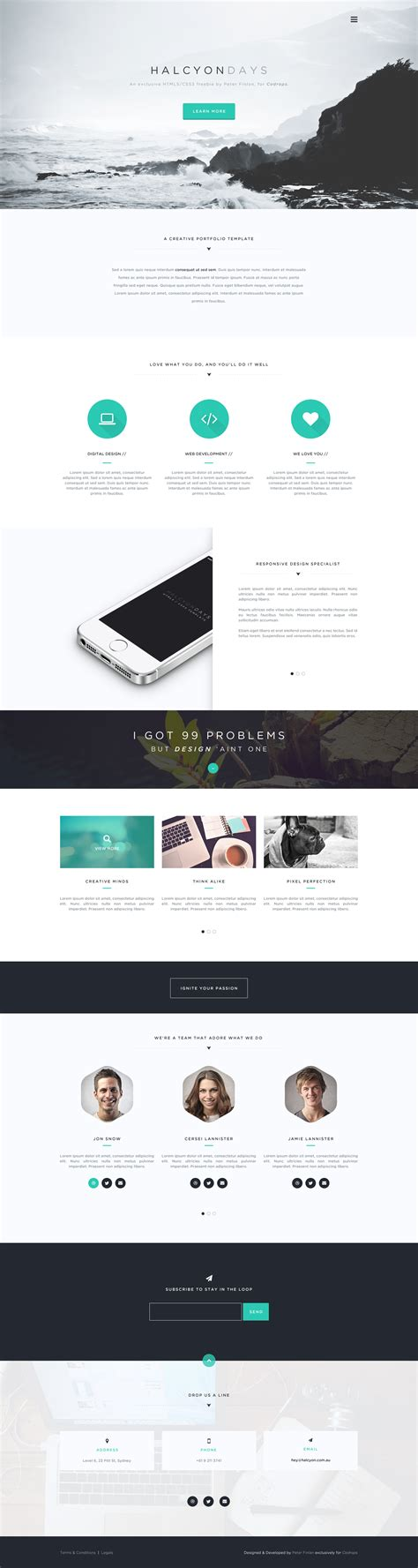 download free creative portfolio template free psd at