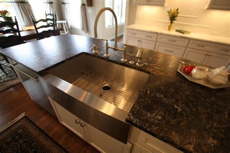 sink in island kitchen island sink traditional kitchen cleveland