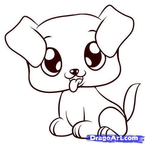 draw  puppy step  step pets animals