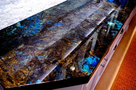 Contemporary Kitchen Island Ideas our new lemurian blue countertops
