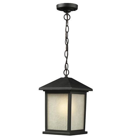Black Light Outdoor Outdoor Chain Light Black