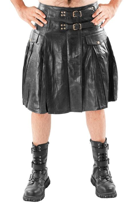 Ebay Cowhide Rugs Mens Leather Kilt Pleated With Twin Buclkes Most Sizes Ebay