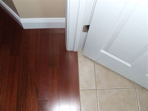 Floor Transition At Doorway   For the Home   Pinterest