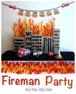 fireman birthday party celebration fire truck ideas spaceships and laser beams