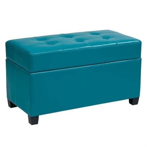 blue storage ottoman features