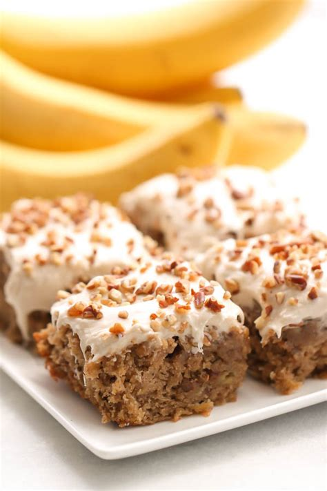 maple frosting banana nut blondies with maple frosting six stuff