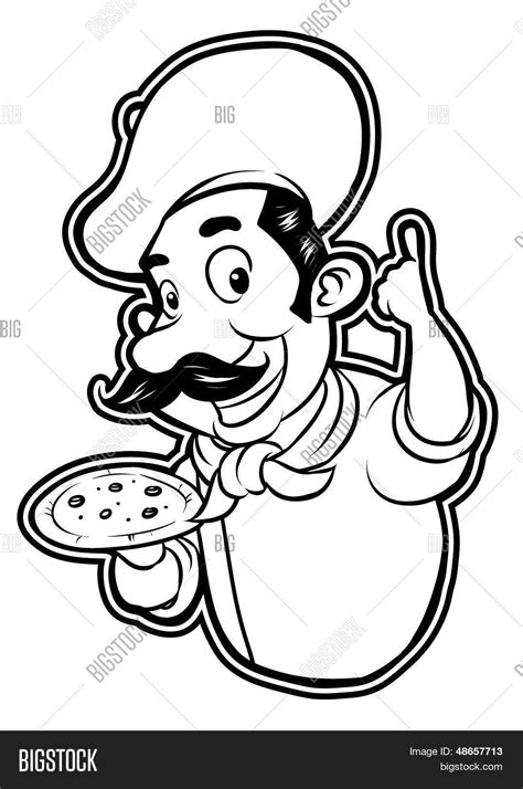pizza clipart black and white black and white clipart pizza chef stock vector stock