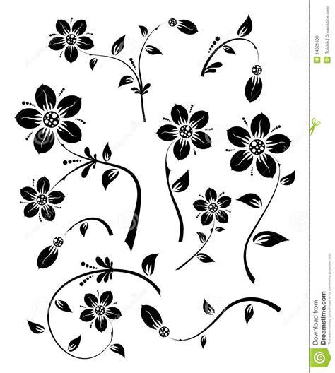 floral design elements vector set set of floral elements for design vector royalty free