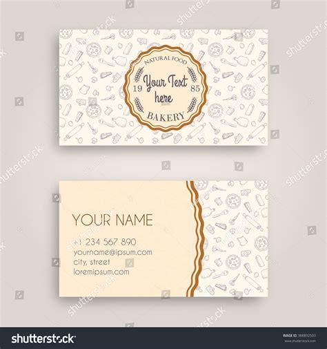 doodle name card vector business card design template doodle stock vector