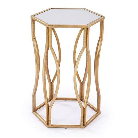 Hexagon Side Table Hexagon Gold Side Table