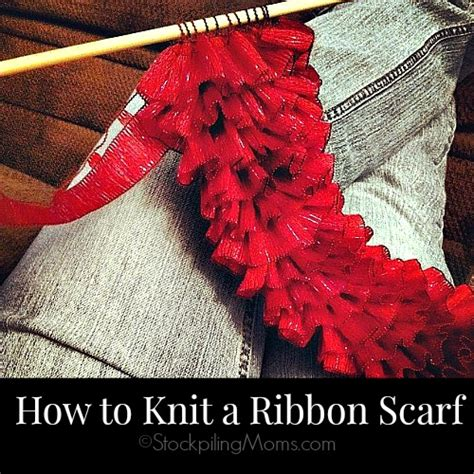how to knit a scarf how to knit a ribbon scarf