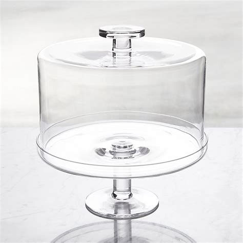 Specialty Kitchen Knives footed cake stand with dome crate and barrel