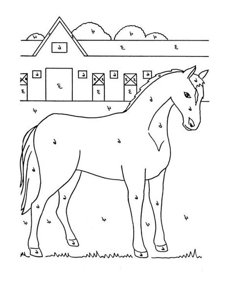 coloring pages of horse stable a stable colouring pages