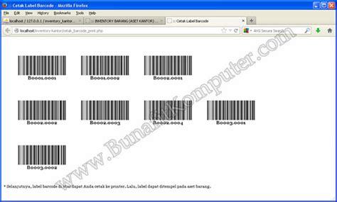 cara membuat barcode harga barang sistem informasi inventarisasi alat barang aset kantor